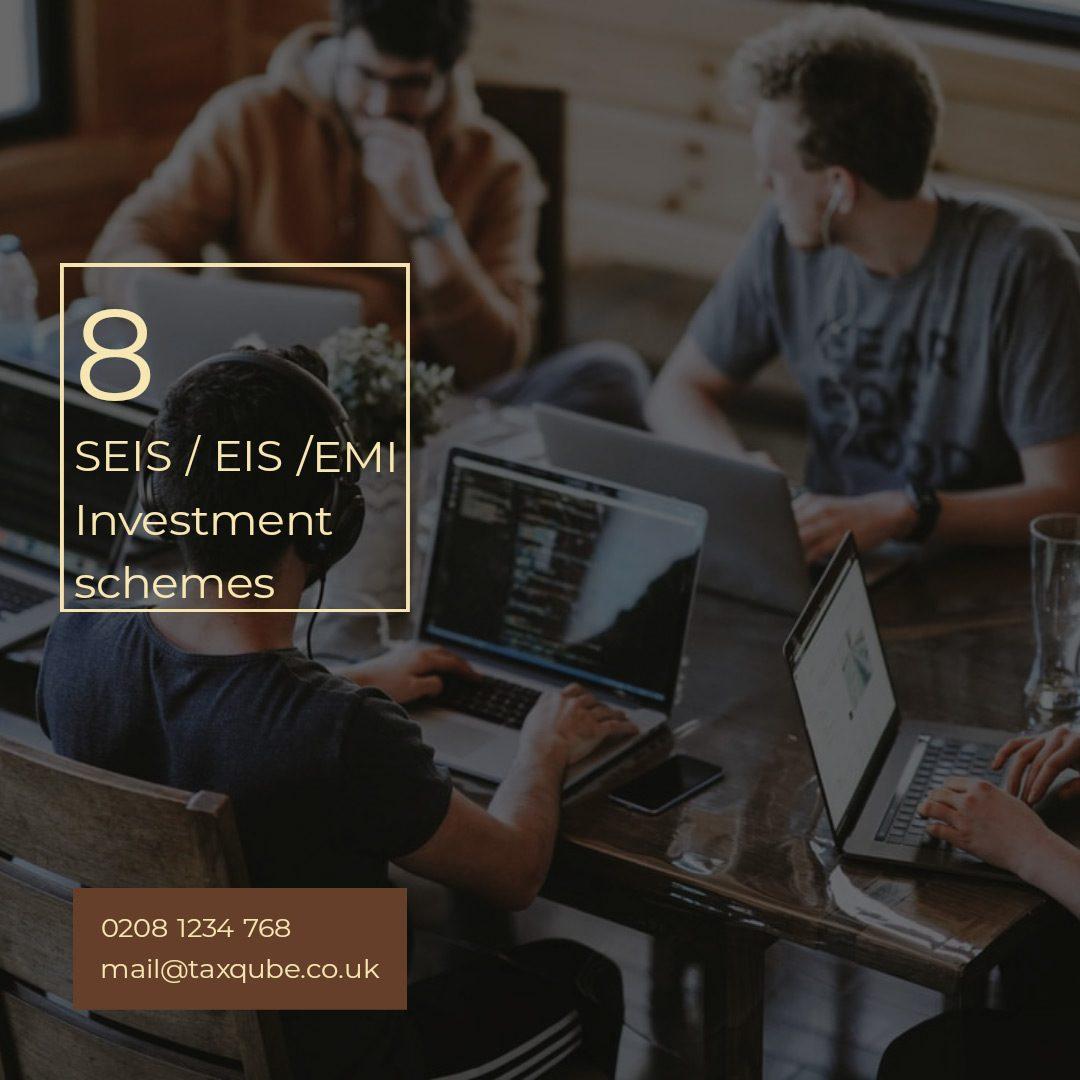 SEIS EIS EMI | Investor friendly | Investment schemes | Tax refund on investment